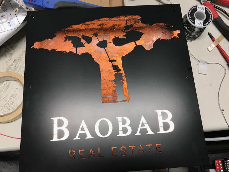 Custom sign_Baobab Real Estate_1_TECside